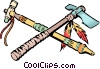 Vector Clip Art image  of a Indian tomahawk