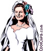 Bride in dress Vector Clipart picture