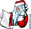 Santa on the phone Vector Clipart illustration