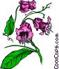 Vector Clip Art image  of a Purple flower