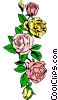 Decorative rose design Vector Clipart image