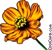 Vector Clipart graphic  of a Orange flower