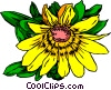 Vector Clip Art graphic  of a Yellow Daisy