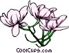 Purple flowers Vector Clipart image