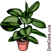 Potted plant Vector Clipart illustration