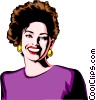 Vector Clipart image  of a Woman smiling