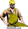 Mine worker Vector Clipart illustration