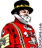 Beefeater Vector Clipart illustration