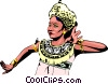 Vector Clipart image  of a Indonesian woman