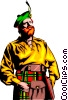 Scottish man Vector Clipart illustration