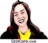 Vector Clip Art image  of a Japanese girl
