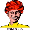 Vector Clip Art graphic  of a Man with turban
