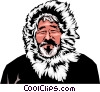Eskimo man Vector Clipart picture