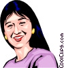 Vector Clipart graphic  of a Japanese girl