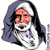 Moroccan man Vector Clip Art picture