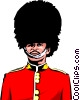 British Guard with bearskin hat Vector Clip Art graphic