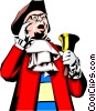 Vector Clipart illustration  of a Town crier