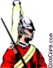 Vector Clip Art picture  of a British Guard