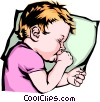 Vector Clipart graphic  of a Baby sucking thumb