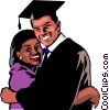 Vector Clip Art image  of a Graduation day