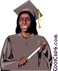 Vector Clip Art graphic  of a Graduate