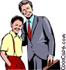 Vector Clip Art graphic  of a Father & son