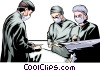 Vector Clipart picture  of a Doctors operating