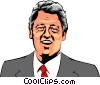 Vector Clipart image  of a Bill Clinton