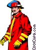 Fireman Vector Clipart graphic