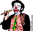 Clown with cigar Vector Clipart picture