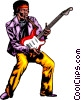 Vector Clipart image  of a Guitar player