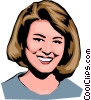 Vector Clipart picture  of a Smiling woman