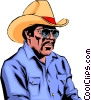 Vector Clipart graphic  of a Cowboy
