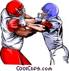 Football players Vector Clip Art image