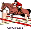 Vector Clip Art image  of a Horse jumping