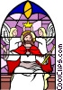 Vector Clip Art image  of a Stained glass window