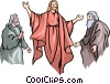 Christ with Moses and Noah Vector Clip Art picture