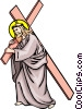 The way of the cross Vector Clipart image