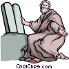Vector Clipart picture  of a Moses & the Ten Commandments