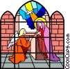 Stained glass window Vector Clip Art image