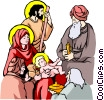 Nativity scene Vector Clip Art graphic