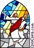 Vector Clipart graphic  of an Ascension into heaven
