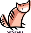 Cool cat Vector Clipart picture