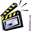 Clapperboard Vector Clipart picture
