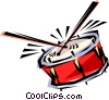 Vector Clip Art picture  of a Cool drum