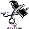 Cool scissors Vector Clipart picture