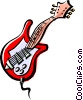Vector Clipart image  of a Cool guitar