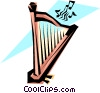 Vector Clip Art graphic  of a Cool harp