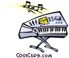 Cool keyboard Vector Clipart picture
