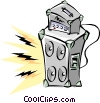 Vector Clipart illustration  of a Cool amplifier